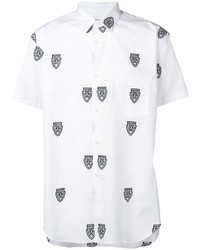 Camisa de manga corta estampada en blanco y negro de Comme Des Garcons SHIRT