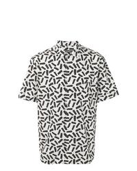 Camisa de manga corta estampada en blanco y negro de Dolce & Gabbana