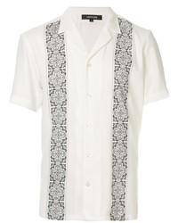 Camisa de manga corta estampada en blanco y negro de Loveless