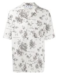 Camisa de manga corta estampada en blanco y negro de Off-White