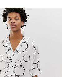 Camisa de manga corta estampada en blanco y negro de Reclaimed Vintage