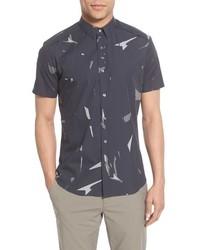 Camisa de manga corta estampada en gris oscuro