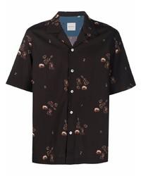 Camisa de manga corta estampada en marrón oscuro de Paul Smith