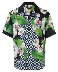 Camisa de manga corta estampada en multicolor de Dolce & Gabbana