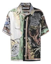 Camisa de manga corta estampada en multicolor de Givenchy