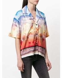 Camisa de manga corta estampada en multicolor de Filles a papa