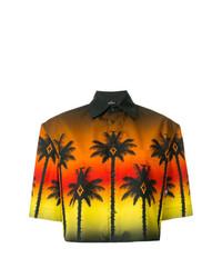 Camisa de manga corta estampada en multicolor de Marcelo Burlon County of Milan