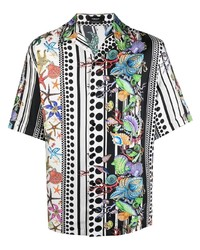 Camisa de manga corta estampada en multicolor de Versace