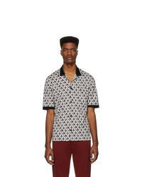 Camisa de manga corta estampada en negro y blanco de Dolce and Gabbana