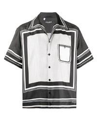 Camisa de manga corta estampada en negro y blanco de Dolce & Gabbana