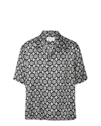 Camisa de manga corta estampada en negro y blanco de Maison Margiela