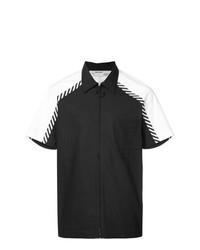 Camisa de manga corta estampada en negro y blanco de Off-White