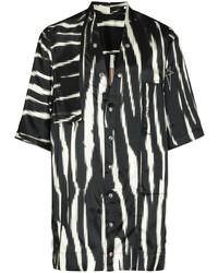 Camisa de manga corta estampada en negro y blanco de Rick Owens