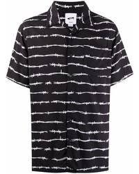 Camisa de manga corta estampada en negro y blanco de Vans