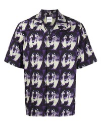 Camisa de manga corta estampada en violeta de Paul Smith