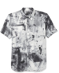 Camisa de manga corta estampada gris de Paul Smith
