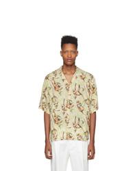 Camisa de manga corta estampada marrón claro de DSQUARED2