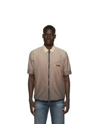 Camisa de manga corta estampada marrón claro de Off-White