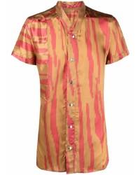 Camisa de manga corta estampada marrón claro de Rick Owens