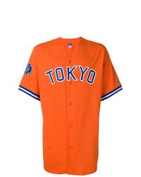 Camisa de manga corta estampada naranja de Champion