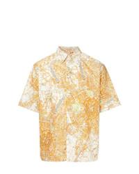 Camisa de manga corta estampada naranja de MSGM