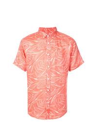 Camisa de manga corta estampada naranja de Onia
