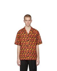 Camisa de manga corta estampada naranja de Palm Angels