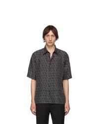 Camisa de manga corta estampada negra de Fendi