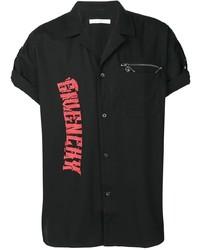 Camisa de manga corta estampada negra de Givenchy