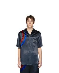 Camisa de manga corta estampada negra de Gucci
