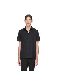 Camisa de manga corta estampada negra de Neil Barrett