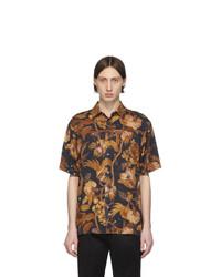Camisa de manga corta estampada negra de Paul Smith