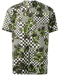 Camisa de manga corta estampada verde