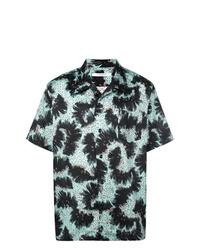 Camisa de manga corta estampada verde oscuro de Givenchy