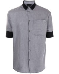 Camisa de manga corta gris de Emporio Armani