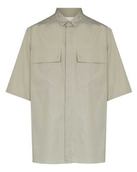 Camisa de manga corta gris de Ermenegildo Zegna