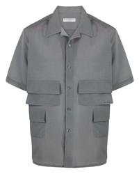Camisa de manga corta gris de Givenchy