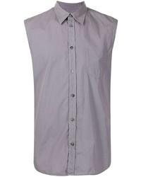 Camisa de manga corta gris de Maison Margiela