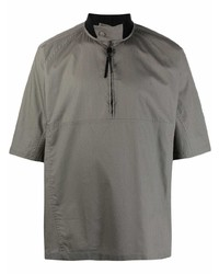 Camisa de manga corta gris de Salvatore Ferragamo