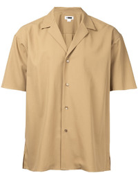 Camisa de manga corta marrón claro