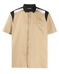 Camisa de manga corta marrón claro de Neil Barrett