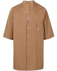 Camisa de manga corta marrón claro de Rick Owens