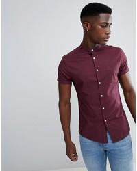 Camisa de manga corta morado oscuro de ASOS DESIGN