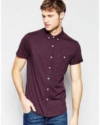 Camisa de manga corta morado oscuro de Asos