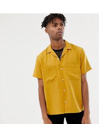 Camisa de manga corta mostaza
