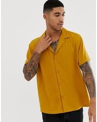 Camisa de manga corta mostaza de ASOS DESIGN