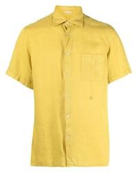 Camisa de manga corta mostaza de Massimo Alba