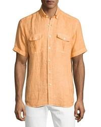 Camisa de manga corta naranja