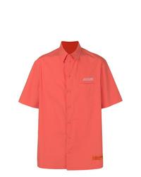 Camisa de manga corta naranja de Heron Preston