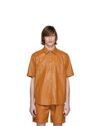 Camisa de manga corta naranja de Nanushka